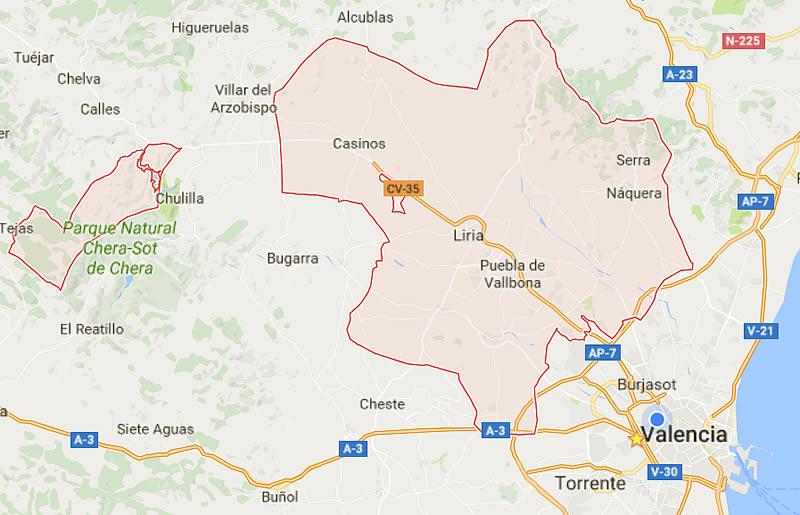 Llíria y La Pobla de Vallbona