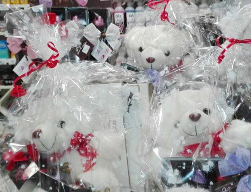Bombones y peluche para San Valentín
