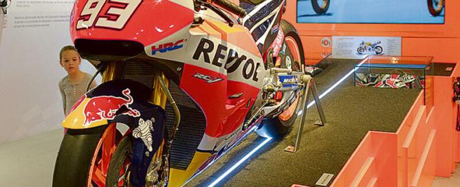 La moto con la que Marc Márquez ganó el Campeonato del Mundo