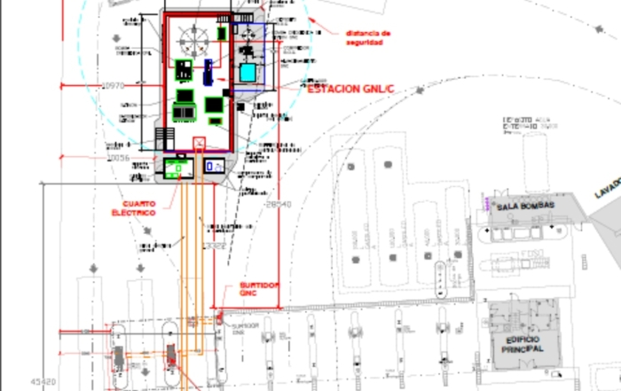 Planos gasolinera gasinera Grupo ALZ