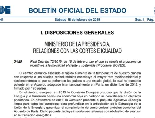 Real Decreto 72/2019, Programa MOVES: Ayudas a los vehículos GNL y GNC